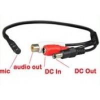 Mikrofón pre bezpečnostné CCTV/AHD/CVI kamery