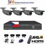 4CH 1080p AHD kamerový set- STARVIS CCTV - DVR s LAN a 4x AHD IR kamier,4x ZOOM, vr. príslušenstvo, 1920x1080px/CH, CZ menu,P2P, HDMI, 2MPx