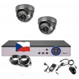 4CH 1080p AHD kamerový set STARLIGHT CCTV- DVR a 2x vonkajšie dome IR kamier, 4x ZOOM, CZ menu, P2P, HDMI, IVA, H265+
