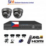 4CH 1080p AHD kamerový set STARVIS CCTV- DVR a 2x vonkajšie dome AHD IR kamier, 4xZOOM, vr. príslušenstvo,1920x1080px, CZ menu,P2P, HDMI, 2 MPx