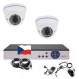 4CH 1080p AHD kamerový set STARLIGHT CCTV- DVR a 2x vonkajšie dome IR kamier, 4x ZOOM, BIELE, CZ menu,P2P, HDMI, IVA, H265+