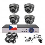 8CH 1080p AHD DVR kamerový set STARLIGHT - DVR s LAN a 4x vonkajších DOME AHD IR kamier, 4xZOOM, 1920x1080px/CH, CZ menu, P2P, HDMI, IVA, H265+