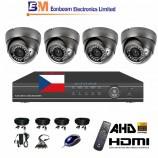 8CH 1080p AHD DVR kamerový set CCTV - DVR s LAN a 4x venkovních AHD IR kamer, 2,8-12mm, vč. příslušenství, s kabeláží, 1920x1080px/CH, CZ menu,P2P, HDMI, 2MPx