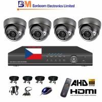 4CH 1080p AHD kamerový set STARVIS CCTV- DVR a 4x vonkajšie dome AHD IR kamier, 4xZOOM, vr. príslušenstvo,1920x1080px, CZ menu,P2P, HDMI, 2 MPx