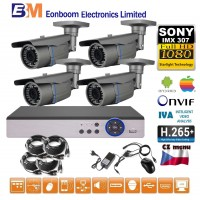 4CH 1080p AHD kamerový set- STARLIGHT CCTV - DVR s LAN a 4x AHD IR kamer, 4x ZOOM, CZ menu, P2P, HDMI, IVA, H265+
