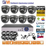 8CH 1080p AHD DVR kamerový set- STARLIGHT CCTV - DVR s LAN dome IR kamery, 4xZOOM, CZ menu,P2P, HDMI, IVA, H265+