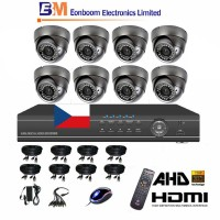 8CH 1080p AHD DVR kamerový set- STARVIS CCTV - DVR s LAN a 8x AHD IR kamier, 4xZOOM,  vrátane príslušenstva, 2560x1440px, CZ menu,P2P, HDMI