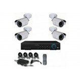 4CH 1080p AHD kamerový set CCTV - DVR s LAN a 4x vonkajších bullet AHD IR kamier, 1920x1080px/CH, CZ menu,P2P, HDMI