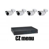4CH 4MPx AHD kamerový set CCTV - DVR s LAN a 4x venkovních bullet AHD IR kamer, 2688×1520px/CH, CZ menu,P2P, HDMI