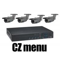 4CH 4MPx AHD kamerový set CCTV - DVR s LAN a 4x venkovních vari 2,8-12mm bullet AHD IR kamer, 2688×1520px/CH, CZ menu,P2P, HDMI