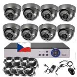 8CH 5MPx STARVIS kamerový set CCTV - DVR s LAN a 8x vonkajších vari 2,8-12mm dome IR kamier, 2688×1960px/CH, CZ menu,P2P, HDMI, IVA, H265+