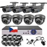 8CH 5MPx STARVIS kamerový set CCTV - DVR s LAN a 4+4 vari 2,8-12mm bullet/dome šedé, 2688×1960px/CH, CZ menu,P2P, HDMI, IVA, H265+