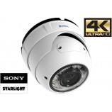 8MPx, 4K Starlight IP dome H265, SUNELL SN-IPR57/08ALDN/Z - POE, ONVIF, ZOOM 3,3-12mm, IR 30m, IP67, IK10, IVA