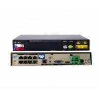 4K NVR rekordér pre 8x Ultra HD 4K / 8MPX IP-kamier, H.265, CZ menu, POE, SN-NVR2508E1-P8