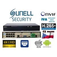 4K NVR rekordér pro 8x Ultra HD 4K / 8MPX IP-kamer, H.265, CZ menu, POE, SN-NVR2508E1-P8