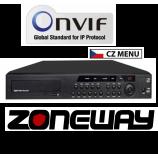 NVR Zoneway 6216F 16CH pro 16 kamier, CZ MENU