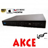 Profi NVR IPS N812 8CH - 8 kamier 1080p/720p, fullHD, Mac OS, CZ Menu