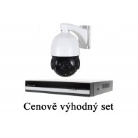 IP kamerový set ZW NVR 2408 + iSeetec IP PTZ kamera 4MPx, 18x ZOOM, P2P