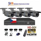 4CH HD-SDI souprava - BULLET kamerový set, FULL HD 1080p SDI rekordér s LAN,  vč. příslušenství
