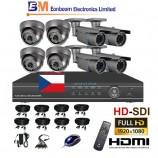 8CH HD-SDI souprava - BULLET+DOME kamerový set, FULL HD 1080p SDI rekordér s LAN,  vč. příslušenství