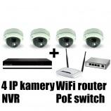 Kamerový IP set, 4x MHK 316LP FULL HD, vari + NVR6004 + router + POE switch 4 + 1